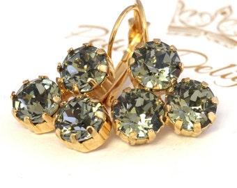 Gray Earrings,Smokey Gray Drop Earrings,Swarovski Gray Earrings,Dangle Earrings,Swarovski Drop Earrings,Bridal Earrings,Gift for her