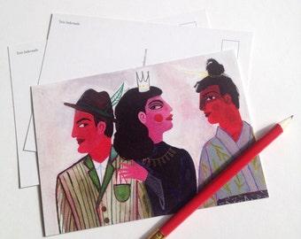 Trio Infernale Postcard (set of 3)