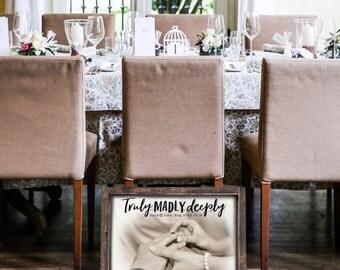 Wedding 5th Anniversary Custom Wood Print REAL Wood Framed Sign 20x30 FREE SHIPPING