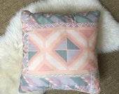 s a l e / vintage southwestern pink geometric decorative throw pillow