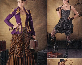 Simplicity 1248 Sewing Pattern for Misses' Steampunk Costumes - Uncut - Size 14, 16, 18, 20, 22