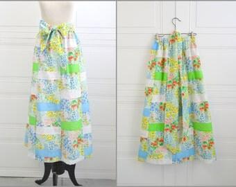 1970s Mr. Hank Floral Patchwork Skirt
