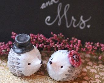 Mr and Mrs Hedgehog/Cake Topper/Figurines