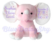 Adorable Personalized Stuffed Animal New Baby Girl