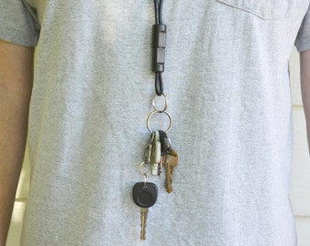 Nintendo GameCube Lanyard with key Chain Upcycled Real Video Game Plug