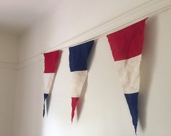 Amazing VINTAGE British Signal flags. My Vintage home. Fabulous