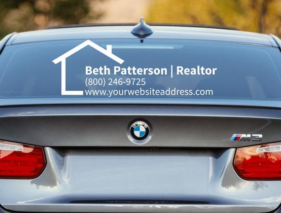 Realtor Decal Realtor Car Decal Real Estate Decal - Business car window sticker