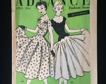 1950's Pattern Catalog Advance Fashion News April 1954
