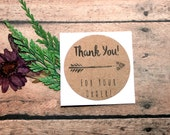 Thank You for Your Order Stickers, Envelope Seals, Thank You Labels