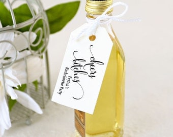 Bachelorette Party Favor Tag, Birthday Party, Cheers Bitches, Shower, Wine Tag, Champagne, Shot Bottle - Set of 25, 1.25 x 2.25 inches