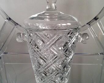 Vintage Mini Bar Ice Bucket - glass