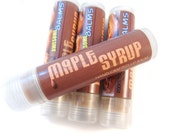 MAPLE SYRUP Lip Balm - vegan natural candelilla lip tube