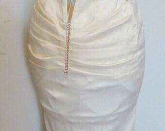 Unique Vintage Long White Dress