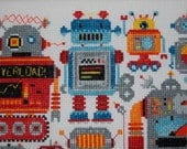 Robot Sampler Cross Stitch