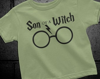 Harry Potter Boy Shirt, Harry Potter Toddler shirt, Son of a Witch, Harry Potter Child, Harry Potter Kids, Harry Potter Boy Clothes