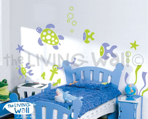 Sea Ocean Wall Sticker Removable Mural Wall Decal Kids Room