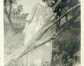 "Vintage Photo ""The Resting Ghost"" Snapshot Photo Old Antique Photo Black & White Photograph Found Paper Ephemera Vernacular - 152"