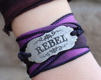 Rebel Ribbon Wrap Bracelet - Bohemian Boho Chic Jewelry 18 colors