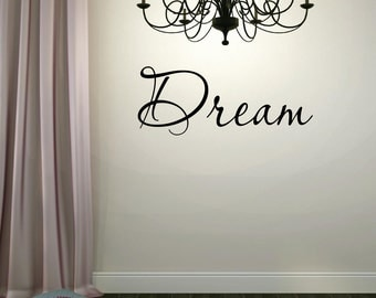 Dream Vinyl Lettering Wall Words Wall Decal