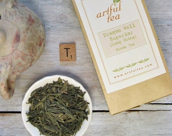 Dragon Well Superior Green Tea • 6 oz. Kraft Bag • Chinese Lung Ching or Longjing Loose Leaf Tea