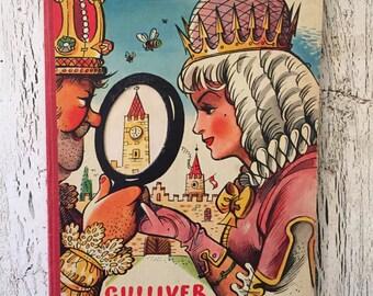 Vintage Pop-Up Book - Gulliver in Brobdingnag - 1960s - V. Kubasta Illustrated