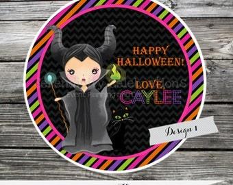 Halloween Tag, Halloween Sticker, Halloween Party, Halloween Villians, Maleficent, Evil Queen, Ursula, Holiday, Halloween Treats, Favor Tags