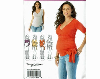 Maternity Misses' Knit tops Uncut Sewing Pattern Simplicity 1468 Sizes XS-XL Stretch Knits 6 8 10 12 14 16 18 20 22 24 Megan Nielsen Pattern