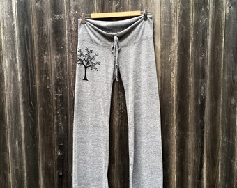 Cherry Tree Yoga Pants, Lounge Pants, Maternity Pants, S,M,L,XL