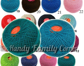 Crochet thread size 30 cotton thread. Egypt Cotton Yarn Bombay. Tatting thread Tatting Cotton. Lace crochet Wholesale DSH