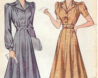Bust 38-1940's Misses' Blouse and Skirt Simplicity 3320 Size 20