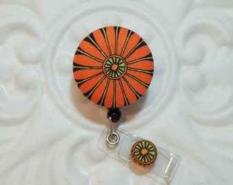 Retractable Badge Holder   Badge Holder   Badge Reel   Retractable Lanyard   Orange