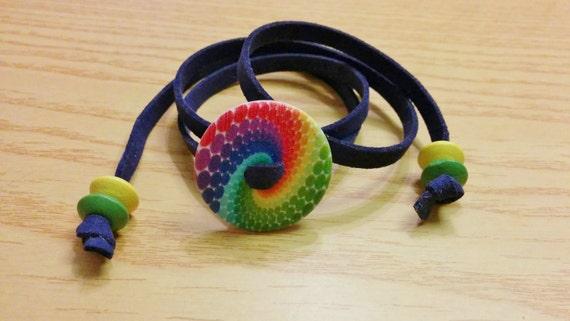 Wood bracelet, button bracelet, cord bracelet,rainbow bracelet,wood necklace,rainbow necklace,flower bracelet,spiral necklace,rainbow color