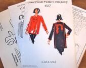 Kanji Asian Kimono Coat, Appliqued Box Jacket, Womens Misses Paw Prints Sewing Pattern 1027 Size XS-5XL 6-40 Bust 30-62 Uncut Factory Folds