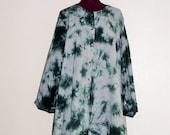 Lagenlook Plus Size Ethical Fashion Cotton Artist Shirt Dress