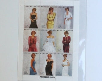 Vintage Royal Gowns Plate Block of 9 Stamps