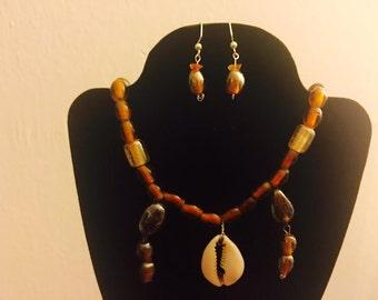Aha Njoku - African Goddess of Harvest Jewelry Set