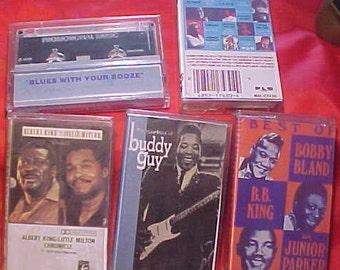 Blues Cassettes vintage 70s 5 lot Buddy Guy BB King Bobby Bland Albert King Lil Milton etc