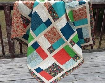 Handmade Quilt OOAK Blanket Quilt
