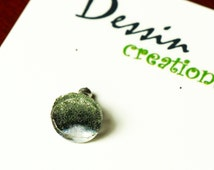 SINGLE STUD Earring, Made from Recycled Grey Goose Vodka Bottle, Eco Jewelry, Barware, Fused Glass, Guy Gift, Dessin Creations