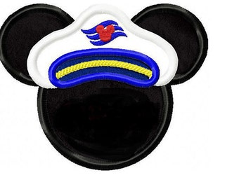 Cruise Mouse for a Disney Cruise vacation Embroidered/Appliqued Tee