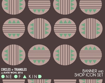 Circles + Triangles - banner & shop icon set