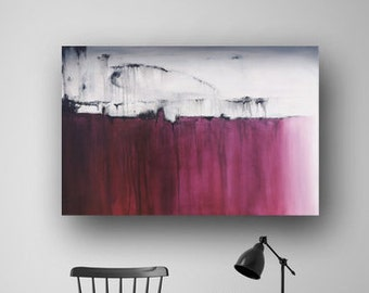 Abstract Painting on Canvas, Original Painting, Wine Purple Painting, Contemporary Painting, Minimalist, 36x24 Heather Day Paintings on Etsy