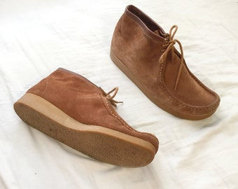 SALE- Suede Leather Wallabees size 12