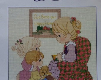 Precious Moments Cross Stitch Pattern BRING The Little Ones TO JESUS By Gloria & Pat