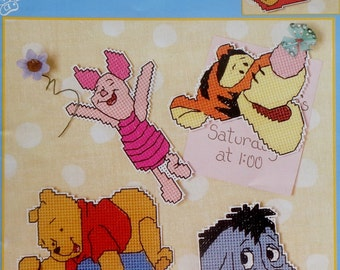 Disney Winnie The Pooh Collection MAGNETS FOR YOU In Plastic Canvas By Leisure Arts - Counted Cross Stitch Pattern Chart Booklet