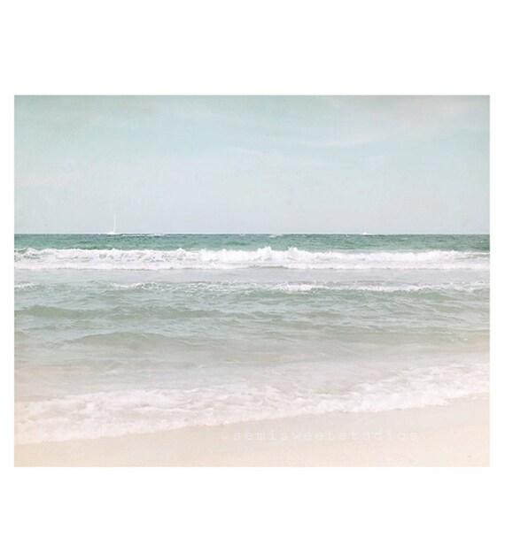 Ocean Photography, Beach Photography, beach print, beach house decor, shore house decor, blue ocean print, beach decor, coastal