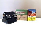 Vintage Sawyer View-Master Stereoscope Set, View Master and Reels, Bakelite Viewmaster