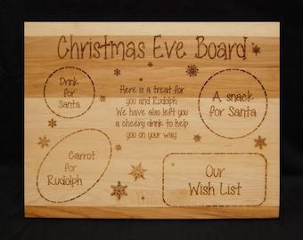 Christmas Eve Board, Santa Board, Rudolph, Cutting Board