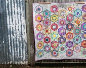 Painted Hexagon quilt