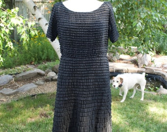 1960 Hand Made Bergdoff Goodman Layered Ruffle Dress~ Couture~